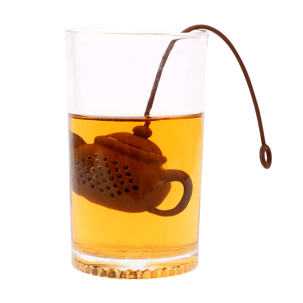 NICEYARD Silicone Tea Bags Tea Strainer Creative Herbal Filter Diffuser Teapot Shape Tea Infuser Empty Tea Accessories Teaware