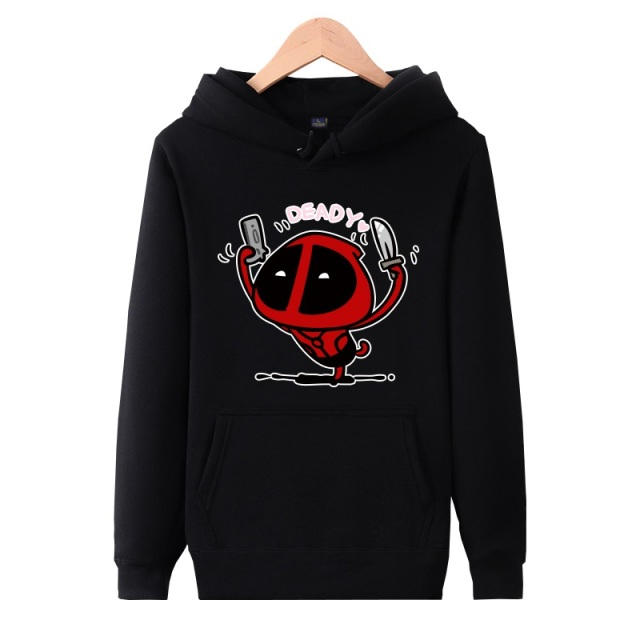XHTWCY  Cotton hoodies deadpool hoodie Skateboard sudadera Hoodie hip hop  Mens Pullover Hoodies deadpool Sweatshirt Clothing 38fc562ab75
