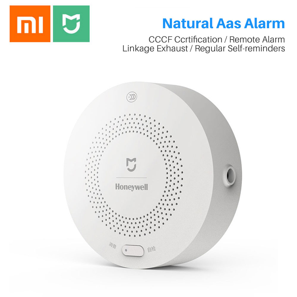 Xiaomi Gas Sensor Alarm Honeywell Detector Smoke Monitoring Fire Protection Ceiling&Wall Easy Install Mijia APP Remote Control
