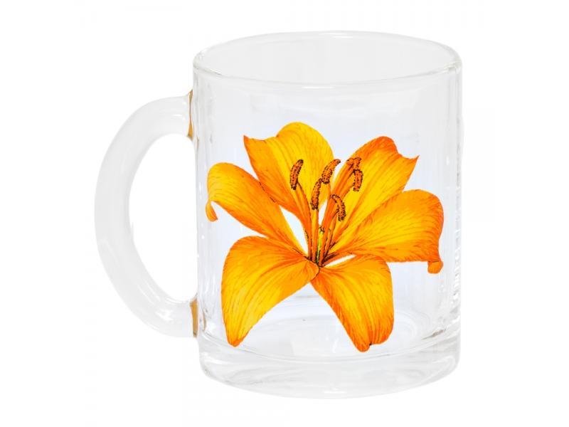 цена на Mug Experienced glass factory, Tea, Lily, 300 ml