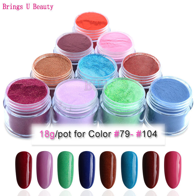 18g/Box New Arrival Spring Dipping Powder Without Lamp Cure Nails Dip Powder Gel Nail Color Powder Natural Dry Colors #79-#104