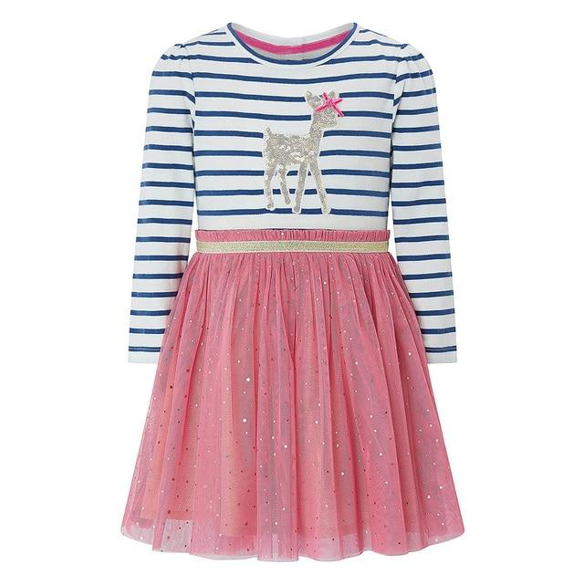 Girl Dress Long Sleeve Kids Dresses for Girls Cotton Clothes Autumn Winter Princess Party Tutu Dress Baby Unicorn Clothing 4