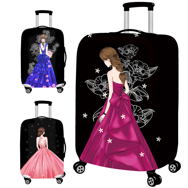 New 3d Wedding Dress Travel Luggage Suitcase Protective Cover For Trunk Case Ly To 19 32 Elastic Perfectly In Accessories From