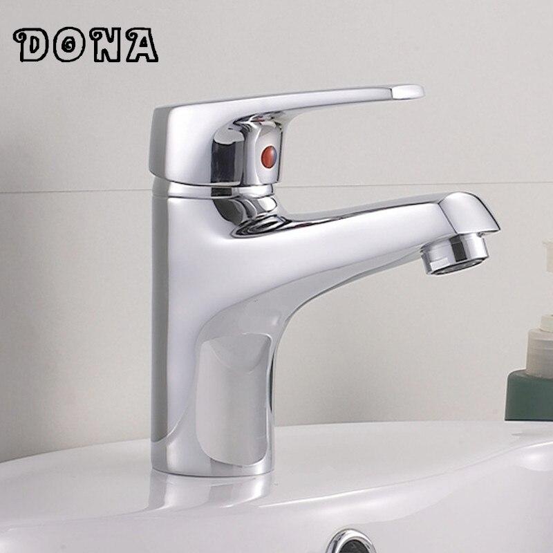 Brass Bathroom Single Handle Mixer Tap Chrome Finished: Polished Single Handle Brass Chrome Bathroom Basin Faucet