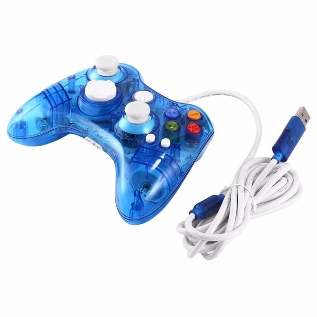 Xbox 360 Wired Controller Pc Blinking: Transparent USB Wired Game Controller for Xbox 360 Joypad Gamepad rh:aliexpress.com,Design