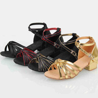 Auf lager viel stil Kinder latin/moderne/praxis tanzschuhe, mädchen Schuhe, Ballroom Salsa Schuhe XC-5121