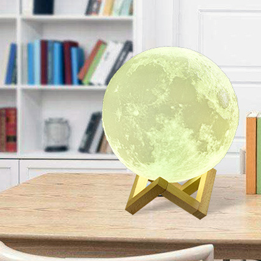 USB 3D Light Fixtures 8-20CM Moon Lamp Levitating Night Light Led Color Change Touch Lighting Bedrooms Lamp
