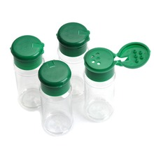 4 шт пластиковая Солонка и перечница с дырочками сверху банка для приправ может барбекю приправа уксус бутылка кухонный графинчик 10,5*4 см 80 мл