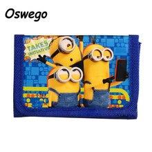 Cartoon Character Yellow Minions Coin Purse Short Wallet Women Children Zipper Money Bag Coin Purse carteras