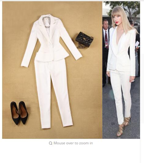 Pantalon De pu Ciel Pieds Printemps 2018 pièce Minimaliste D'été Petit Femmes Deux Rouge New rouge Et Bleu Costume blanc 9 Slim T7xOwIqBnx