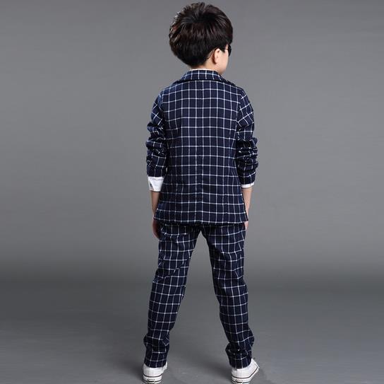 2018 Yeni Moda İsti Satış Böyüyən Uşaqlar Oğlanlar Plaid - Uşaq geyimləri - Fotoqrafiya 2