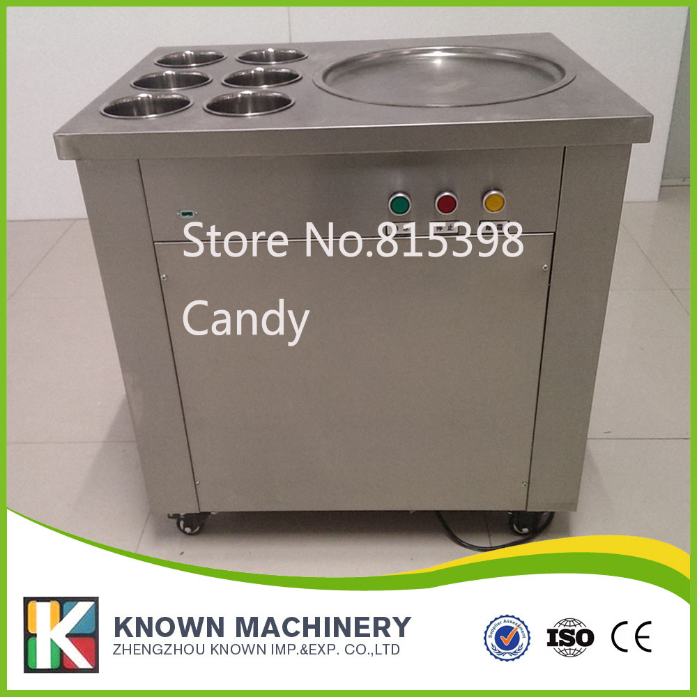 Hot Single Pan Fried Ice Cream Roll Machine Fry Ice Cream Machine Thailand Ice Cream Machine 2017 single pan fried ice cream roll machine economical model square pan fried ice machine fry yoghourt machine