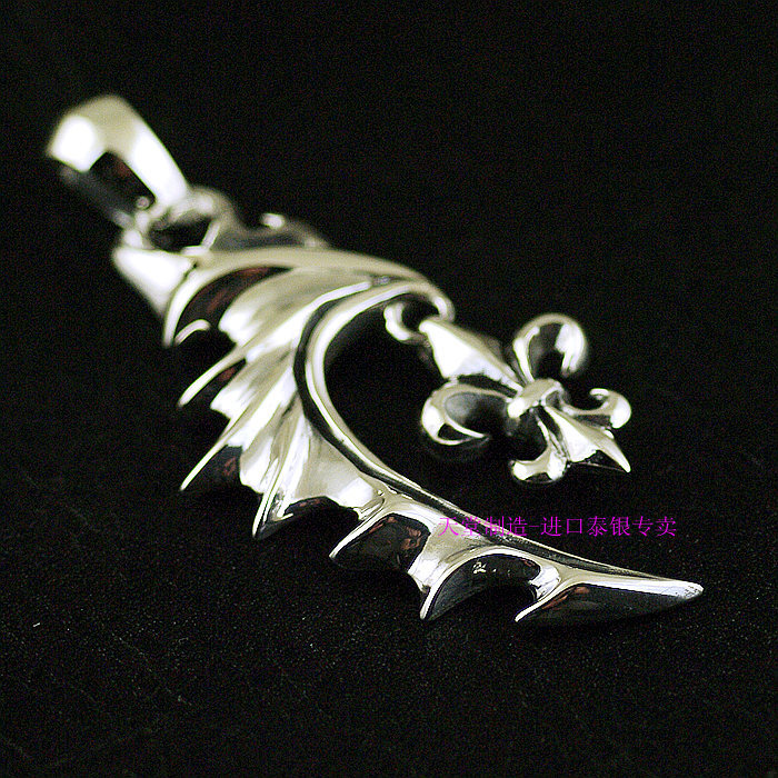 925 sterling silver pendants Anchor flower pendant men paragraph Demon Wings Thai Silver Pendants silver wings silver wings 01r 0012 59