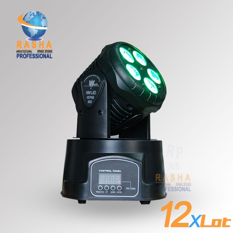 12X LOT Factory Price Freeshipping 5*15W RGBAW MINI LED Moving Head Wash Light,Wash Light,LED Moving Head For Event,Disco Party
