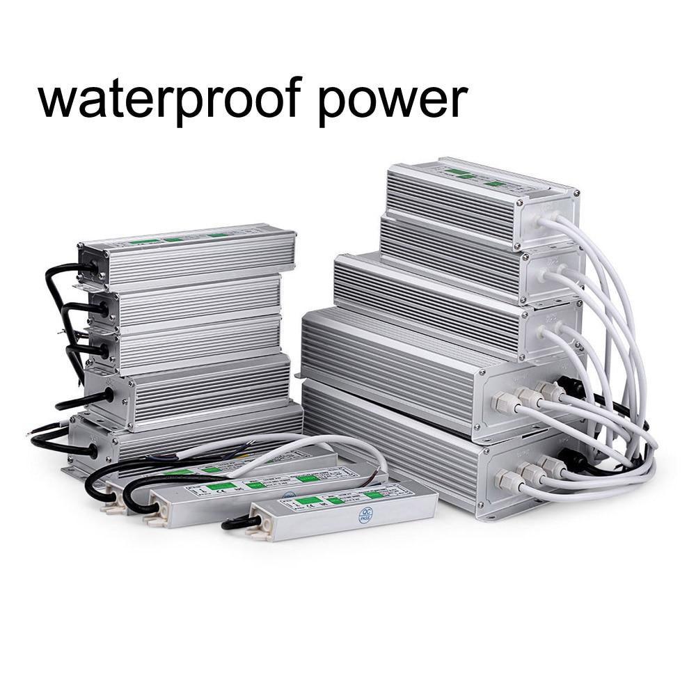 outdoor waterproof transformer power supply adapter led light driver AC 110V 220V to DC 12V 24V for led strip light CCTV camera led driver transformer waterproof switching power supply adapter ac170 260v to dc48v 200w waterproof outdoor ip67 led strip