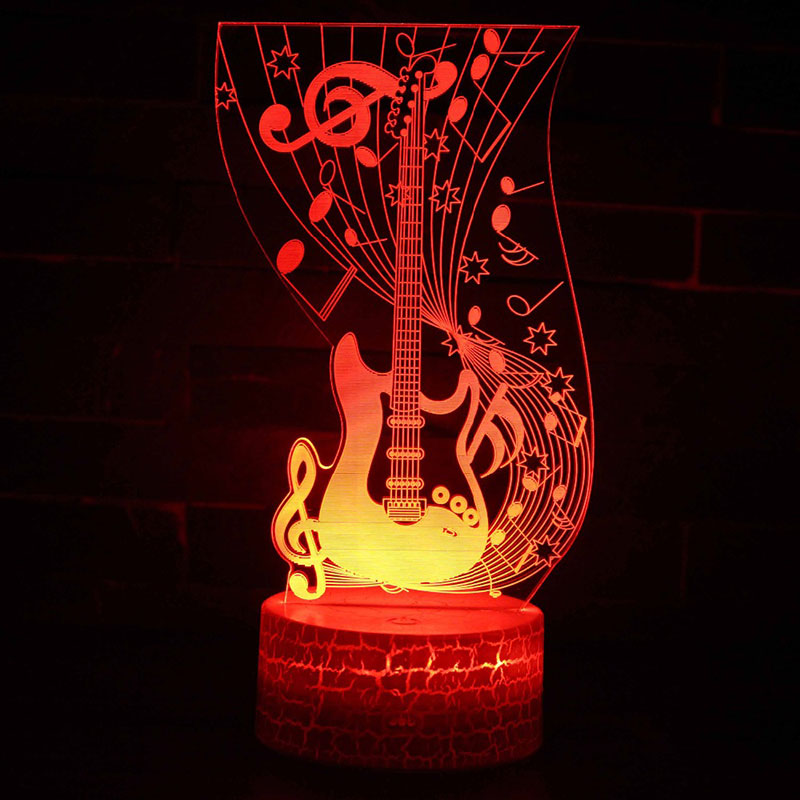 Musical note guitar theme 3D Lamp LED night light 7 Color Change Touch Mood Lamp Christmas present DropshipppingMusical note guitar theme 3D Lamp LED night light 7 Color Change Touch Mood Lamp Christmas present Dropshippping