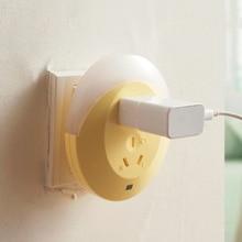 2 Colors Useful LED Light Sensor Plug Socket Night light Lamp Wall Mounting Energy Saving Low Comsumption Novelty Night Light