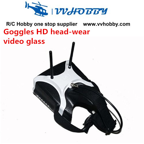 SJ-V01 5.8G 40CH HD Head-wearing Video Glasses FPV Eyeglasses Headplay Goggles SJ-V01 with 40CH and double receiver fpvok fpv 5 8 ghz 40ch rd40 raceband dual diversity receiver with a v and power cables