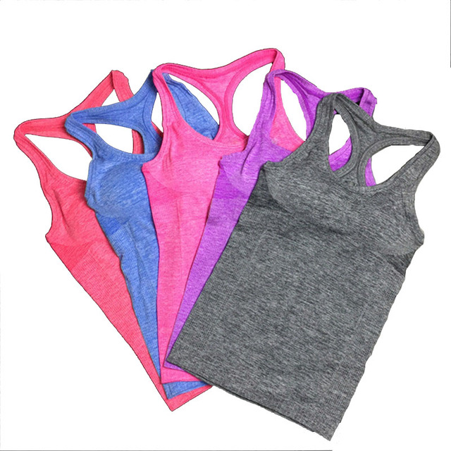 Summer Women Yoga Top Gym Comfortable Sports Sleeveless T Backless Shirts Sport Fitness Gym Shirts Running Clothes Singlets Tops 5