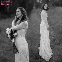 Long Sleeve Lace Wedding Dresses 2019 Elegance Marries Rustic Style Timber Bridal Robe de soriee Vestido de Noivas ZW164