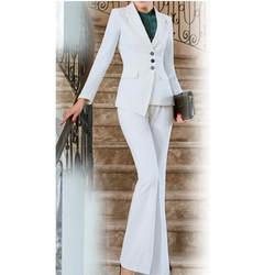Пользовательский Модный Новый асимметричный женский костюм из двух предметов (куртка + брюки) Женский деловой официальный офисный костюм