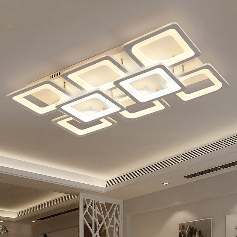 Rectangular Foyer Study Room Restaurant Modern Led Ceiling Lights AC110 240V Home Deco Ceiling Lamp Fixtures Lamparas De Techo|lamparas de techo|modern led ceiling lights|modern led - title=