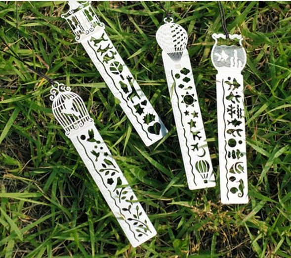 Korea Stationery Shop Fresh Cutout Metal Bookmarks Ruler Ultrathin Metal Ruler