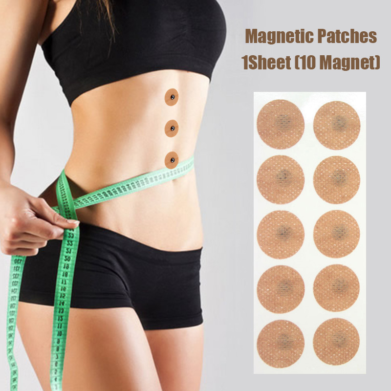 10PCS Magnetic Slimming Earrings Slimming Patch Lose Weight Magnetic Health Jewelry Pain Relief Body Magnet Therapy Tool Kit
