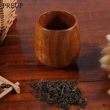 1Pc Cool Wooden Wood Cup Primitive Handmade Natural Spruce Breakfast Beer Coffee Milk Drinkware