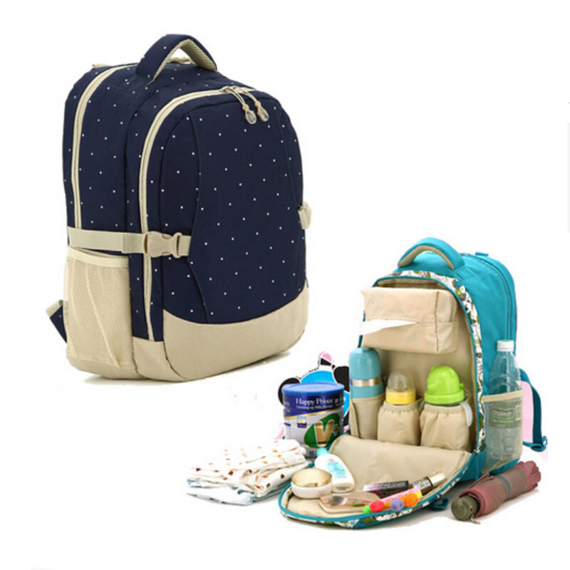 2018 Spring mother bag baby bags multifunctional diaper backpack large capacity wetbag waterproof baby bag set fashion mummy bag