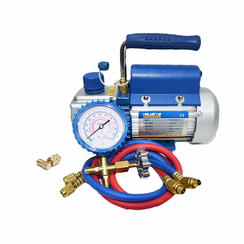 1L/s 2.12CFM R410a Rotary Vane Single Stage Mini Vacuum Pump for Vacuum Refrigeration Air Conditioning Refrigerator