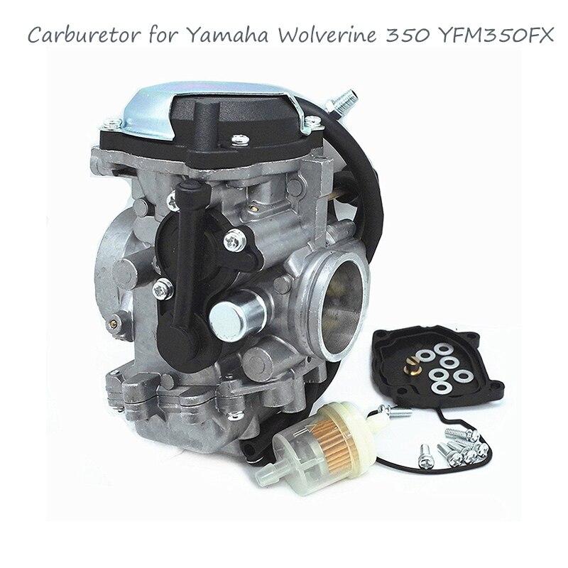 Carburateur et collecteur d'admission pour Yamaha Wolverine 350 YFM350FX 4x4 1999 ~ 2005