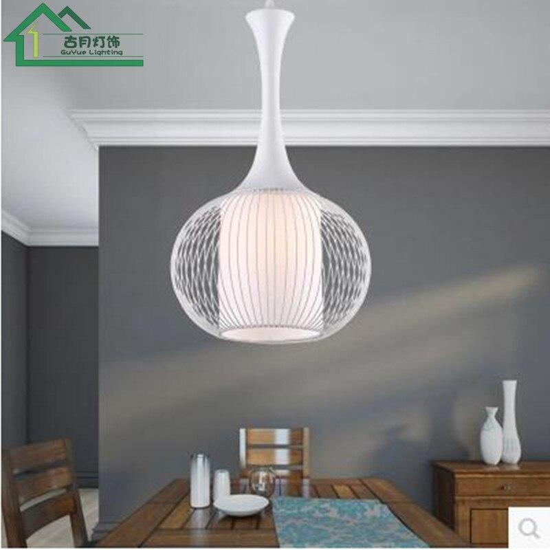 Nordique simple pendentif lumières industriel vent restaurant bar café chambre créative unique tête fer rétro oiseau cage LU808159 - 2