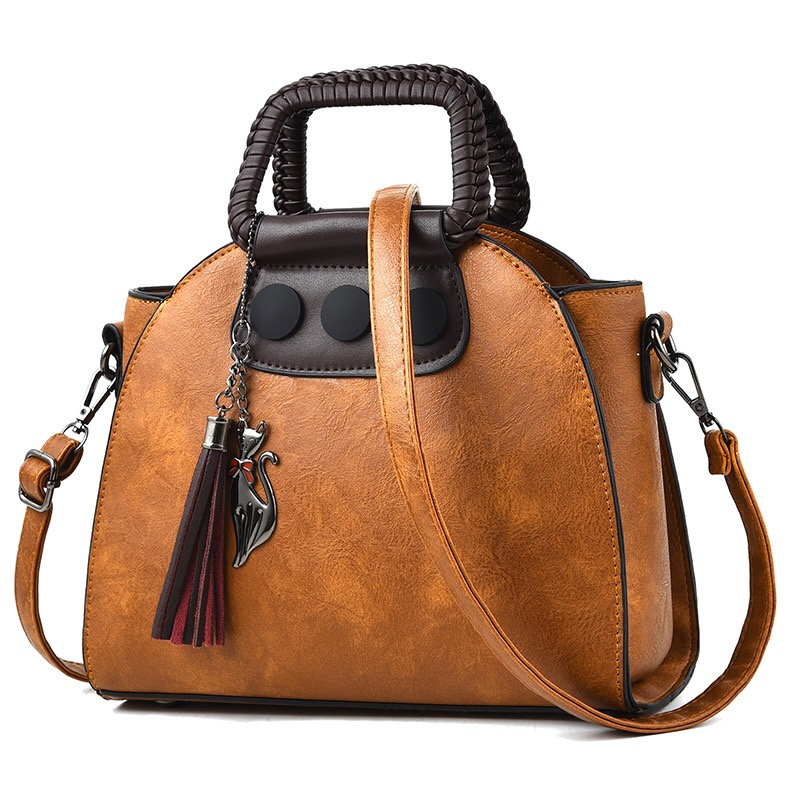 Fashion Designer Women Handbags Luxury Leather Tassel Shell Tote Bag Female High Quality Crossbody Shoulder Bags Bolsa Feminina miwind 2017 new women handbag pu leather female bags fashion shoulder bag high quality 6 piece set designer brand bolsa feminina