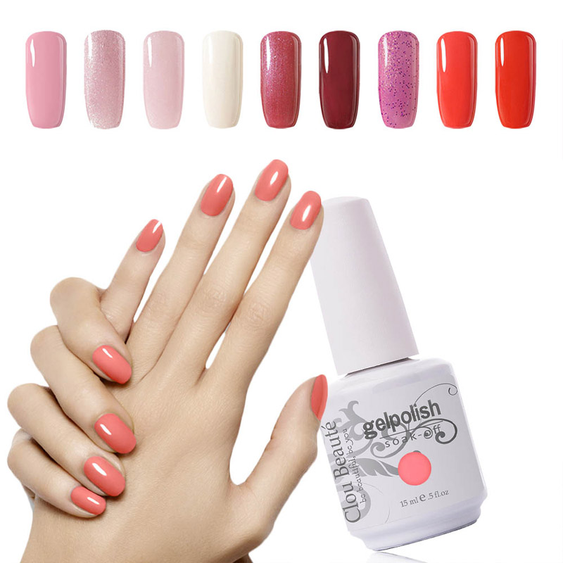Hot Sale Warna 15 ml Clou Beaute Memilih 1 Warna Gel Lacquer Nail Gel Polish Rendam Off UV Gel Cat Kuku Gel pernis