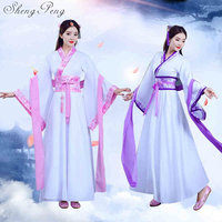 2018 Hanfu national costume Ancient Chinese Cosplay Costume Ancient Chinese Hanfu Women Clothes Lady Chinese Stage Dress CC319
