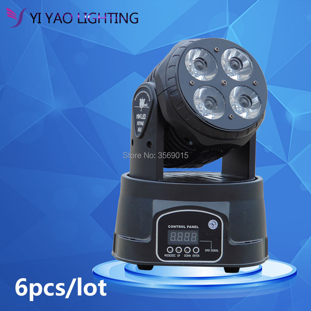 6pcs/lot Moving Head Mini wash 4x20w RGBW Quad with advanced 14 channels LED stage light 19 12w high power led rgbw wash light 16 channels ac90 240v moving head light professional stage