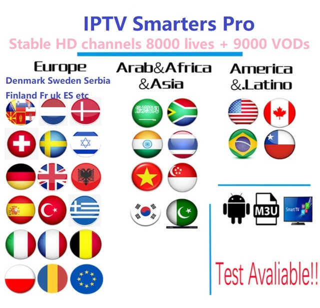 US $64 0 20% OFF|Full HD world europe IPTV Subscription adult iptv French  Spain Sweden brazil tv box android tv box smart iptv mag iptv box-in  Set-top