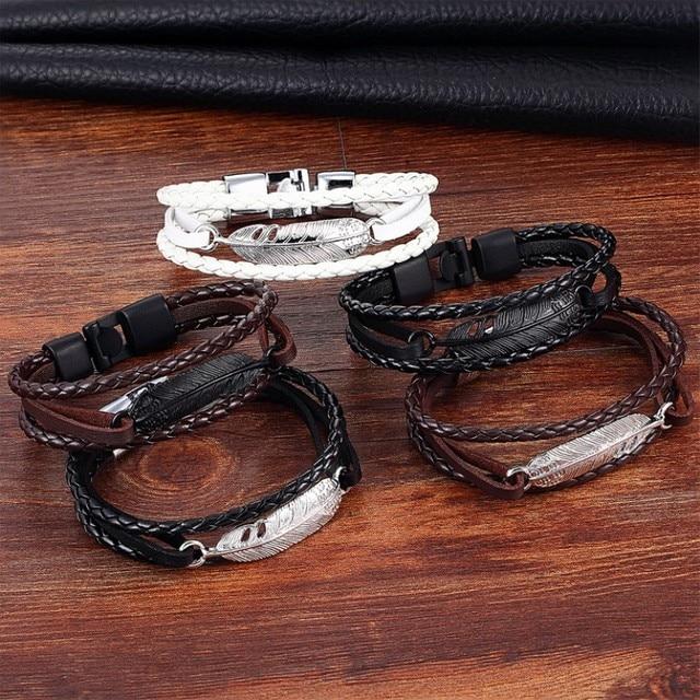 Купить мужской браслет с якорем janeyacy кожаный перьями ювелирное картинки