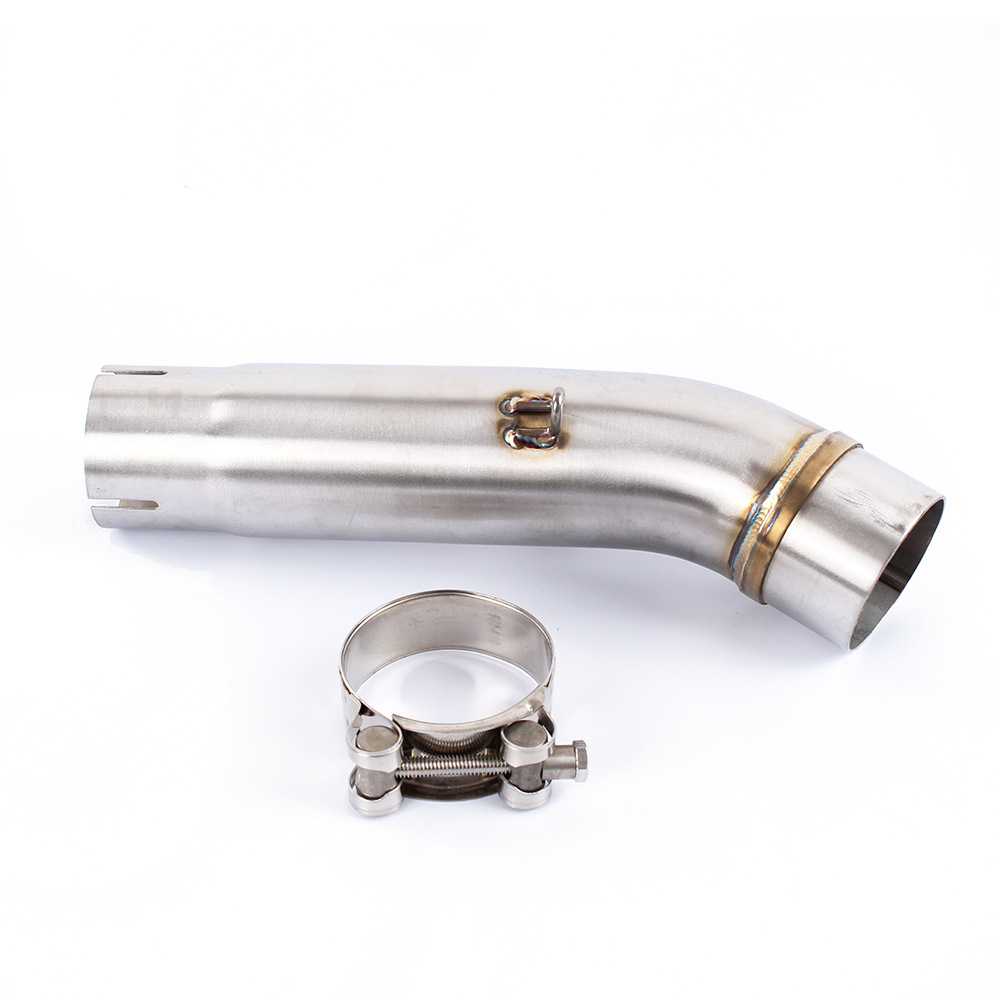Motorcycle Exhaust middle pipe Round Muffler for HONDA CB400 Slip-On all years(China)