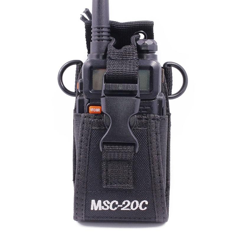 MSC-20C Walkie Talkie Bag Holster Nylon Carry Case For BaoFeng UV-5R UV-6R GT-3 BF-888S UV-82 Portable Radio