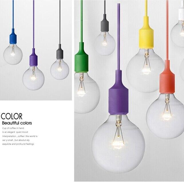 Gel de silice e27 suspension fil vintage décoration ampoule