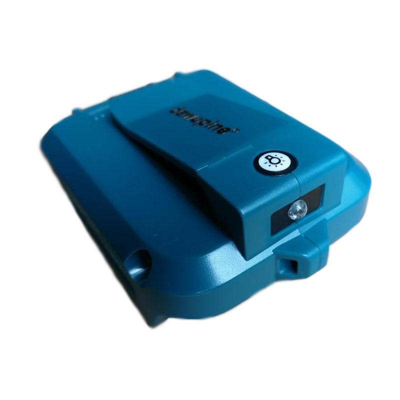 Dawupine USB Power Connector For Makita 18V 14.4V Battery BL1830 BL1430 2Ah 3Ah 4.5Ah 5Ah 6Ah USB Device Charging Adapter ADP05