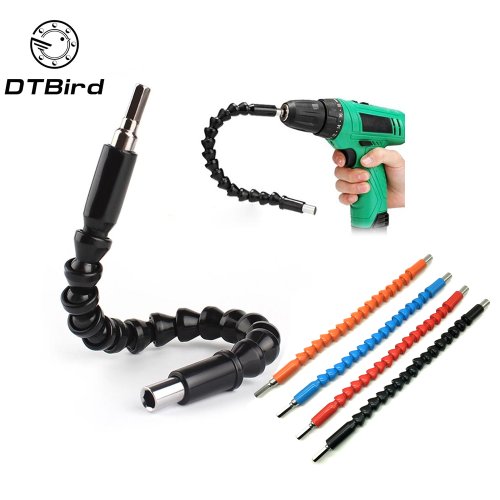 Car Repair Tools Black 295mm Flexible Shaft Bits Extention <font><b>Screwdriver</b></font> Bit Holder Connect Link Electronics Drill <font><b>1</b></font>/<font><b>4</b></font>