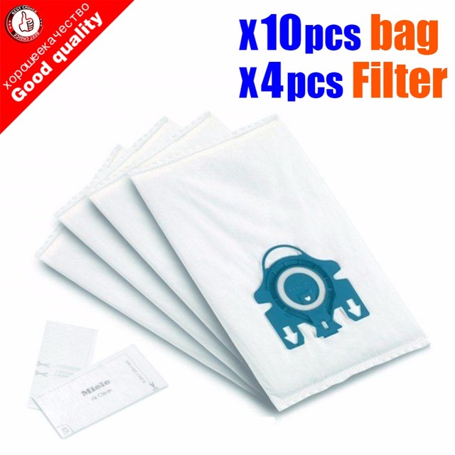 Aspirateur synthétique Miele Type GN Deluxe et 4 filtres, lot de 10 pièces pour S2 S5 S8 C1 C3 Hepa, sacs anti poussière avec filtres
