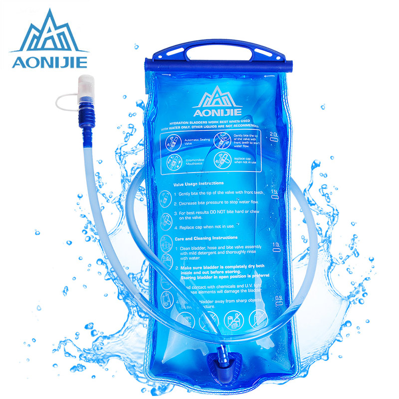 AONIJIE 1L Water Bag Hydration Bladder Water Bag 2L 3L For Running Bicycle Camping Mouth Hydration Bladder Bags Running Cycling|Water Bags|Sports & Entertainment - title=