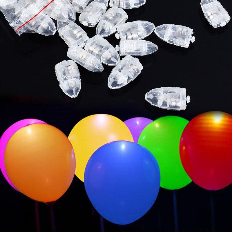 20pcs/lot Colorful Led Balloon Lights White Fix Color Balloon Lights For Paper Lanterns Balloons Wedding Birthday Party Decor