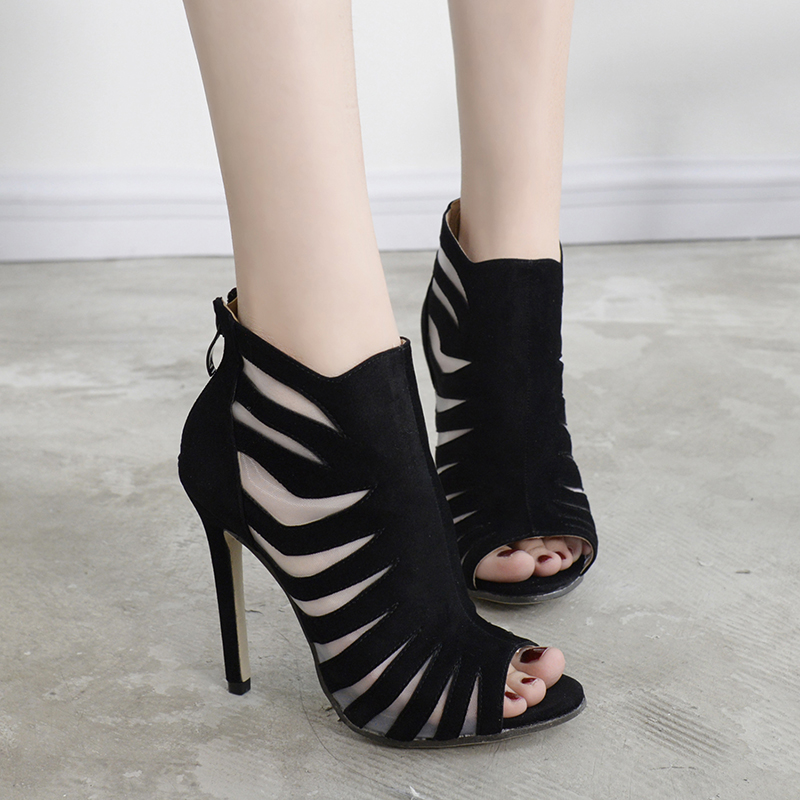 ФОТО women fashion sandals Summer shoes sexy peep toe high heels Gladiator Sandals Women heels sapato feminino women's sandals D1030