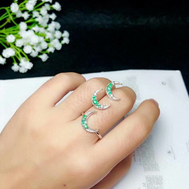 SHILOVEM 925 sterling silver Natural Emerald rings stud earrings fine Jewelry wedding women new plant btz03032.52.5mlSHILOVEM 925 sterling silver Natural Emerald rings stud earrings fine Jewelry wedding women new plant btz03032.52.5ml