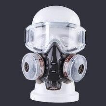 Новинка, противопыльная маска с защитными очками, двойные фильтры, химический респиратор для распыления краски, фабричное использование